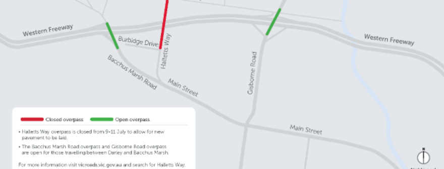 Halletts Way Closed For Works